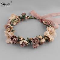 Miallo Flower   Hair   vine in Beach   Wedding   Women   Hair     Jewelry   Headbands Accessory for Bridal Bridesmaid Halloween Decoration