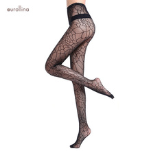 Women Sexy Spider Web Pantyhose Female Black Fishnet Tights Lady Stocking Jacquard Erotic Hosiery Stockings Sexy Mesh Pantyhose sexy women patchwork tights lady color stitching black stockings spring autumn twisted knee stocking pantyhose tights