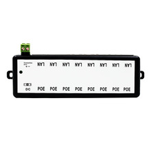 8CH Инжектор PoE для наблюдения IP камеры Мощность Over Ethernet адаптер