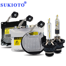 SUKIOTO HID Xenon Headlight Kit 55W xenon d2s 5500K D4S D2R D4R Ballast xenon Conversion Kit d2s Super Vision +60% hid headlamp brand new 55w car xenon kit hid metal ballast bulb dc auto headlight headlamp 3000k 15000k for xf 2009 2010