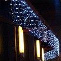 Luzes da corda decoração Do Natal ao ar livre 5 m Droop 0.4 m/0.5 m/0.6 m corda cortina sincelo levou Festa Jardim luz 220 V Conector