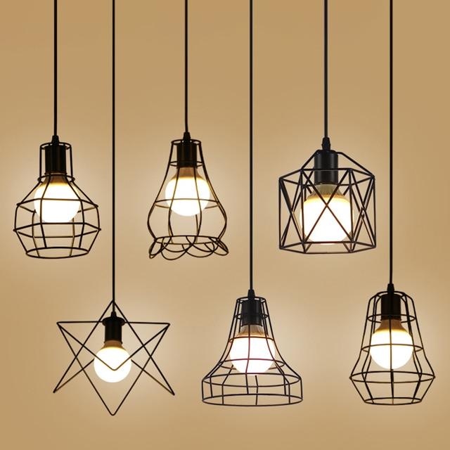 Retro vintage industrial Pendant lights cafe restaurant bar table Suspension Lamps metal Hanging iron light AC110V/220V E27