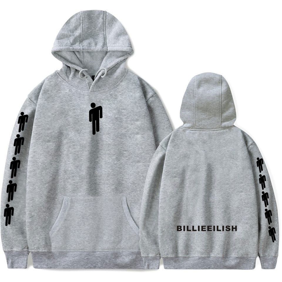 Billie Eilish Women Hoodies Sweatshirt Jacket Casual Oversized Hoodie Plus Size 4XL Merchandise 2019 Hot Sale Casual Trendy