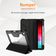 For iPad Pro 11 Leather Case NILLKIN Luxury Smart Wake UP Flip Leather Cases For Apple iPad Pro 11 Cover With Screen Protector