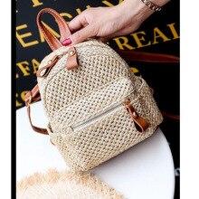 Straw Backpack 2019 Summer Fashion Tide New Grass Braid Small Fresh Cutout Wild Female BagBackpack For  Purse Women