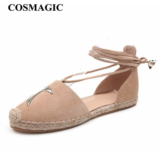 ac26fe93931f Fashion Women Casual Fishermen Sandals Espadrilles Flat with 2018New Casual  Summer Lace Up Hemp Rope Loafers Shoe