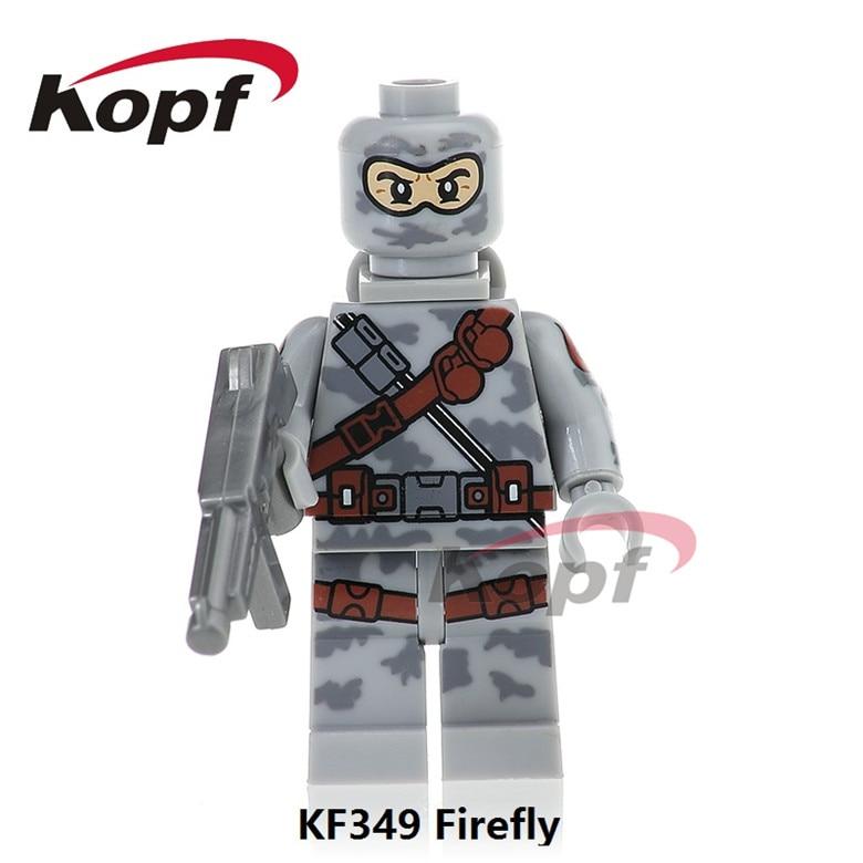 20Pcs Super Heroes Firefly Power Girl Serpentor Snow Job Gi Joe Series Bricks Model Building Blocks Toys for children Gift KF349