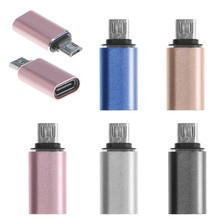 USB 3.1 Tipe C Female Ke Micro USB 2.0 Type B Male Konektor Adaptor Konverter(China)