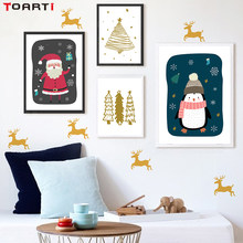 Nordic Snowman Christmas Tree Santa Claus Canvas Diy Painting Poster And Print Wall Picture Christmas Decoration For Home Decor(China)