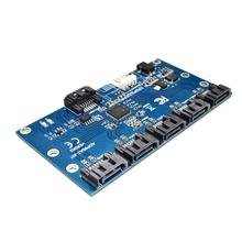 1 до 5 SATA Порты и разъёмы конвертер адаптер SATA 3,0 кабель Порты и разъёмы карты расширения для материнская плата жесткий диск Riser Card