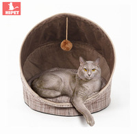 HIPET Cat house bed pet products Foldable small puppy kennel cat Tents With Ball Play Toys warm cotton Cushion cat Sleeping mat