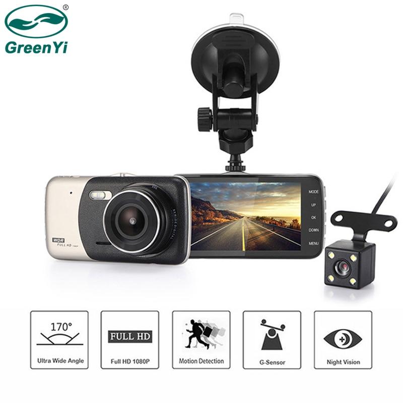 Greenyi Car-Dvr Dash-Cam Rear-View-Camera G-Sensor WDR Ips-Screen 1080P Full-Hd
