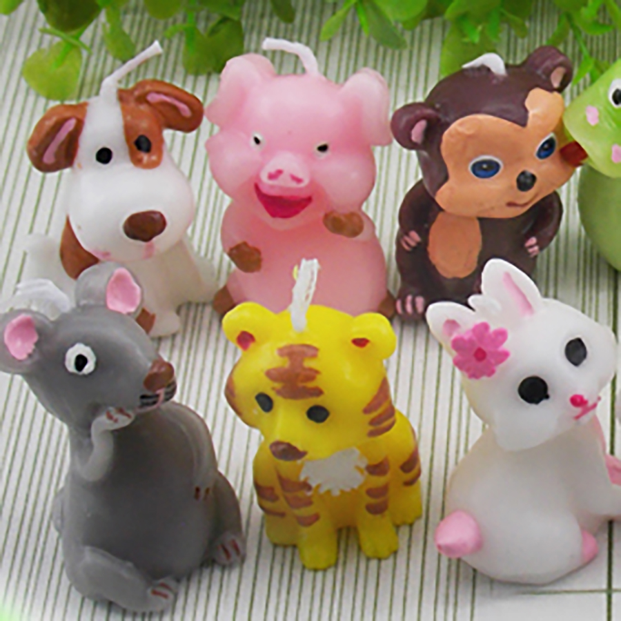 Children Birthday Candle Animal Candles Kids Yankee Creative Decorative Candles Gift Candle Velas Bougie Anniversaire Decor 5LZ2