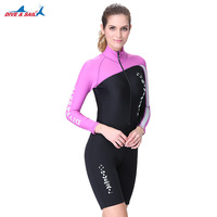 DIVE&SAIL 1.5MM Neoprene Wetsuit Men Women Long/Short Sleeve Trunk One Piece Wet Suits For Swimming Jumpsuit Surfing Rash Guards