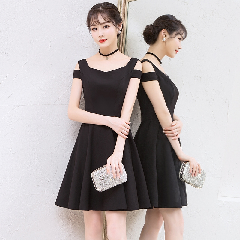 26c90c512e US $44.65 5% OFF|Aliexpress.com : Buy New Black Cocktail Gown Cute Above  the Knee Elegant Formal Graduation Party Simple Party Cocktail Dress 2018  ...
