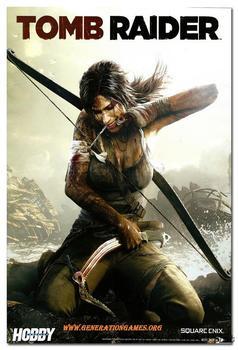 Шелковый Плакат Гобелен Tomb Raider Лара Крофт игра в ассортименте