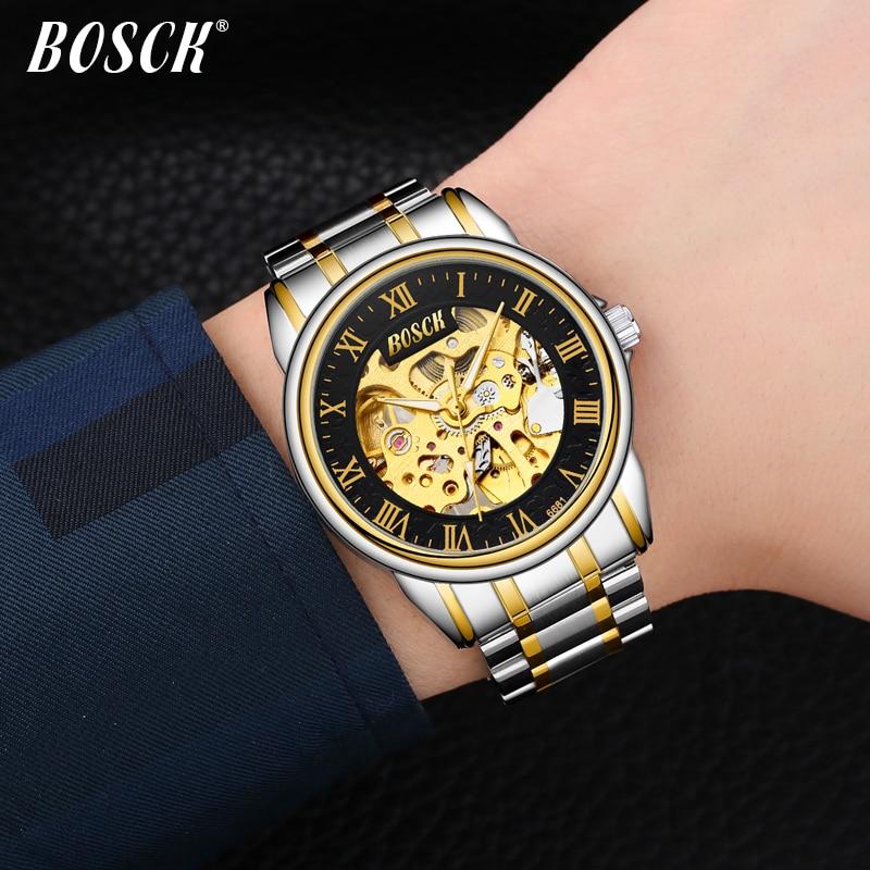BOSCK Heren luxe gouden waterdicht horloge de nieuwe mode trend - Herenhorloges - Foto 5