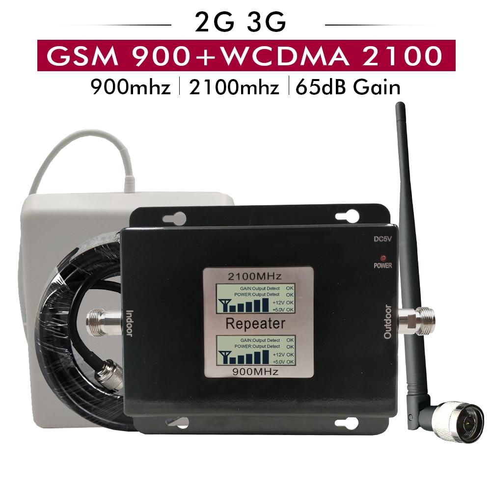 2 グラム 3 グラムデュアルバンド信号ブースター GSM 900 + UMTS/WCDMA 2100 携帯電話の信号リピータ GSM 2100 3 グラムネットワーク携帯信号アンプ  グループ上の 携帯電話 & 電気通信 からの シグナルブースター の中 1