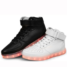 Usb Boy&Men Chaussure Tenis Led Simulation Light Up Trainers Led Slippers Basket Shoes Luminous Sneakers for Adults Femme Female