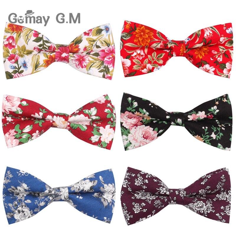 Cotton Men Bowtie Classic Shirts Bow tie For Men Business Wedding Bowknot Adult Floral Print Bow Ties Cravats