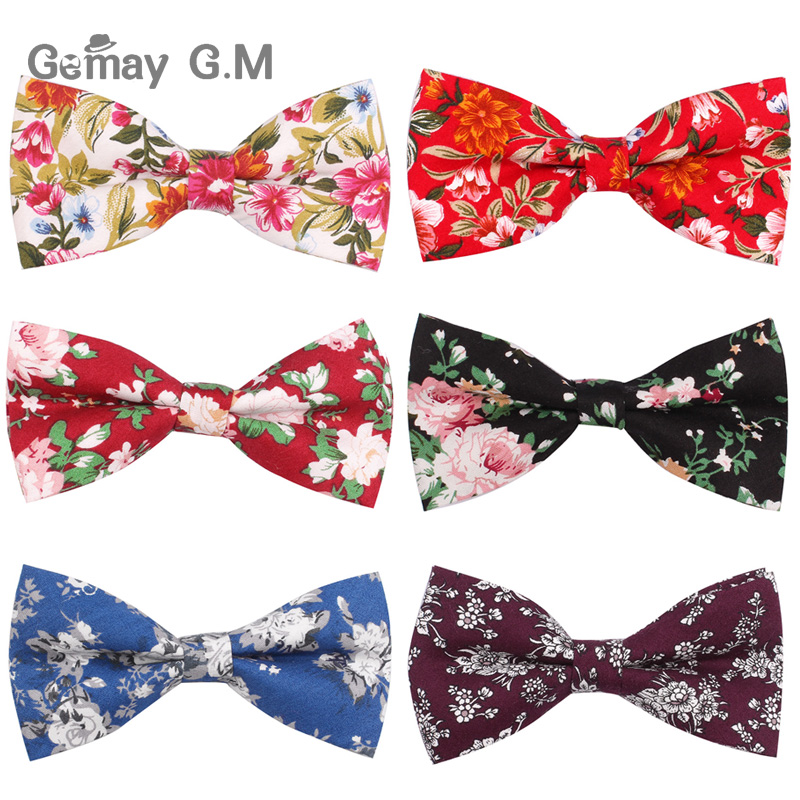 Cotton Men Bowtie Classic Shirts Bow Tie For Men Business Wedding Bowknot Adult Floral Print Bow Ties Cravats
