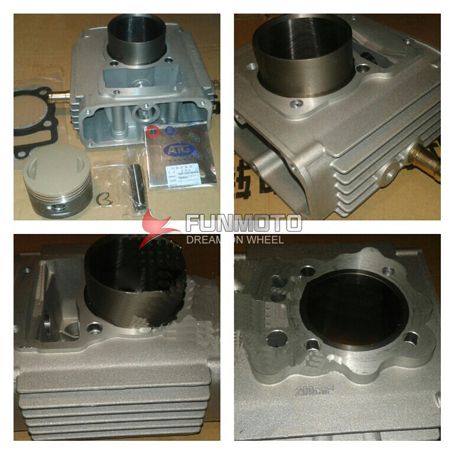 CYLINDER HEAD FORLONCIN TG210 ENGINE  ENGIEN PARTS INCLUDE PISTON/RINGS/VALVE OIL SEALING/GASKETS