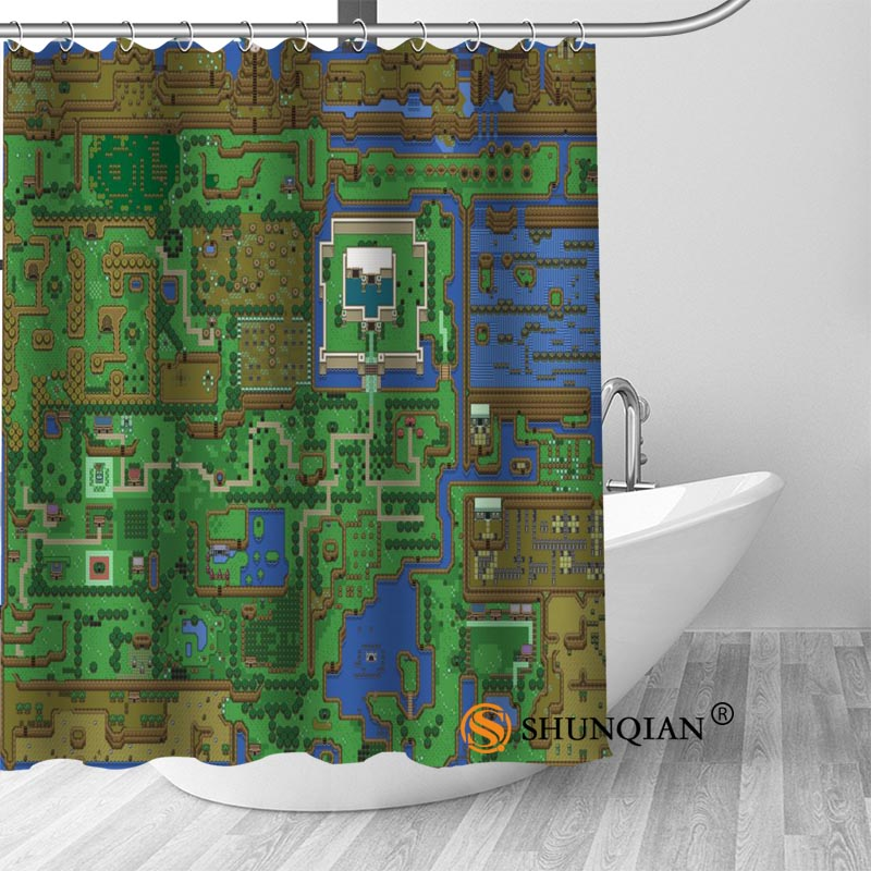 New Legend Of Zelda Map 01 Shower Curtain Bathroom Decorations For Home Waterproof Fabric Bath A1813 In Curtains From