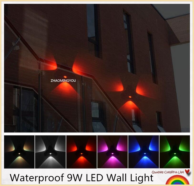 9w Led Wall Light Outdoor Waterproof Ip65 Modern Brief Cube Adjustable Wall Lamps Living Room Porch Garden Lamp