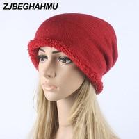 2017 Spring Winter New Fashionable Style Crochet Knitted Warm Fleece Cap Men Women Unisex Baggy Hats