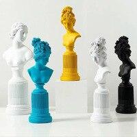 Goddess Statue Venus Head Resin Sculpture Portraits Roman Mythology Resin Figure Art Craft Continental Home Decoration 05589