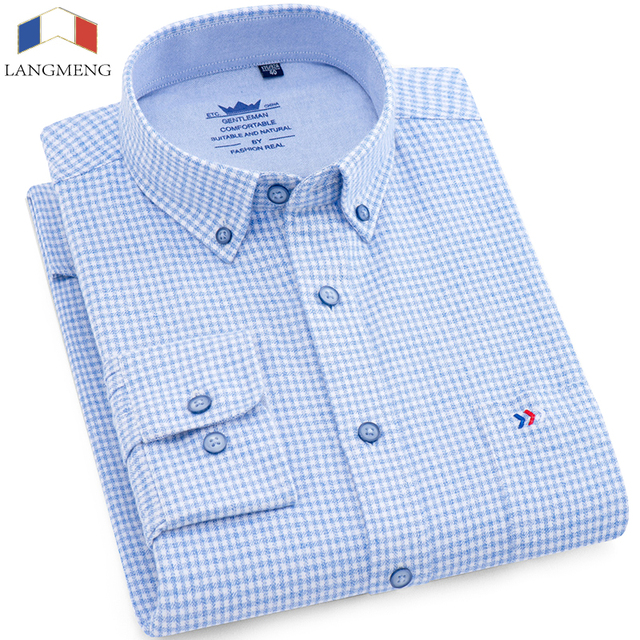 100% 코 튼 남자 플 란 넬 격자 무늬 셔츠 2018 봄가 캐주얼 긴 소매 셔츠 고품질 브랜드 남자 옷 플러스 크기 5xl