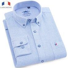 100%  Cotton Men Flannel Plaid Shirt 2018 Spring Autumn Casual Long Sleeve Shirt high quality Brand Man Clothes Plus Size 5XL