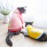 2017 Autumn Cute Funny Pet Cat Clothing Hoodie Sweatshirts Cotton Soft Cartoon Patterns Muppet Clothing XS