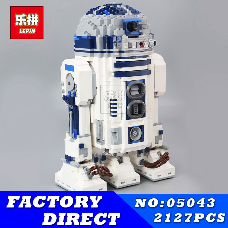 LEPIN 05043 2127Pcs Star Series Wars R2-D2 Robot Building Blocks Bricks Model Educational Toys 10225 Children Boys Toys Gifts new 2127pcs lepin 05043 star war series r2 d2 the robot building blocks bricks model toys 10225 boys gifts