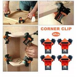 Ascendas 4 peças carpintaria 90 graus ângulo direito grampo rápido quadro de imagem canto braçadeira TP-0286
