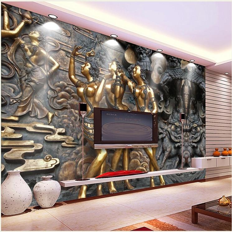 Abjcoin Decentralized Marketplace | 3d Gold papel Murals Stereo Jade ...