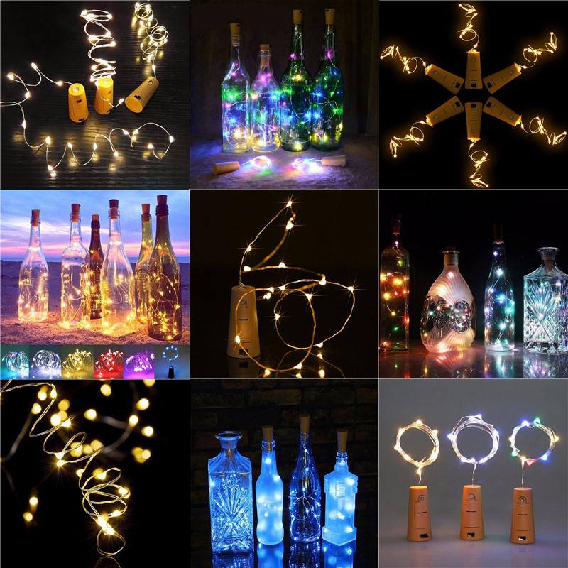 LED Fairy String Lights Wine Bottle Cork Lamp Copper Wire Xmas Party Home Decor