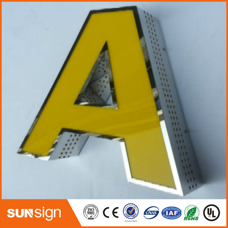 Wholesale Coffee Store Decorative Advertising Stainless Steel Led Sign Letters