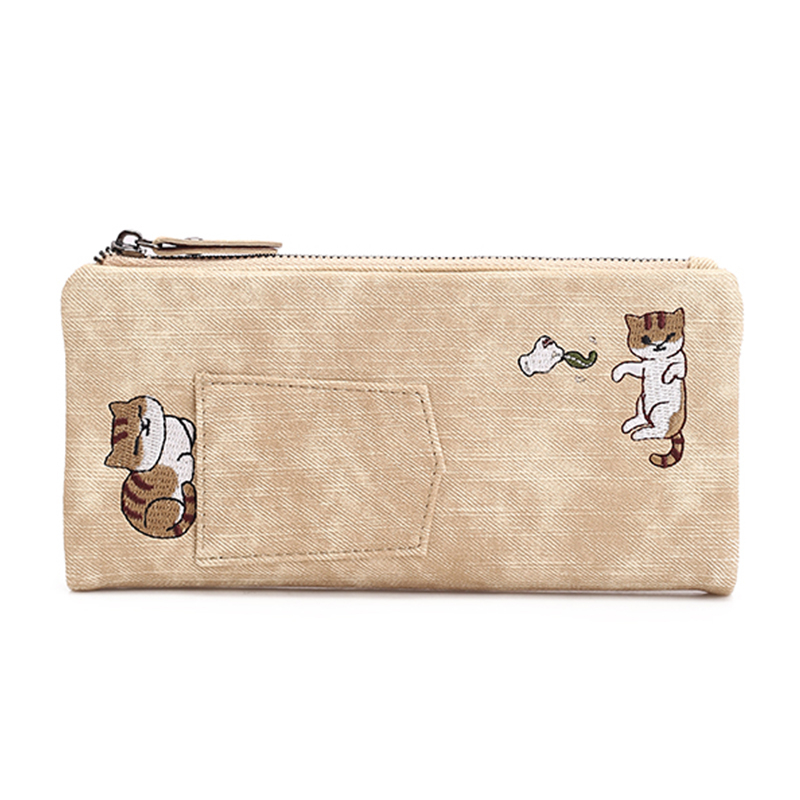 Women Wallet Female Leather Purse Card Coin Holder Printing Cat Long Wallet Famous Brand Phone Cash Pocket Ladies Hot Wallets brand genuine leather wallet female purse long coin purse money bag casual card holder women wallets fashion purse wallet women