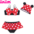 girls swimsuits children's Minnie Tankini girls one piece swimwear overalls bikini meisje children swimsuit for kids rash guard