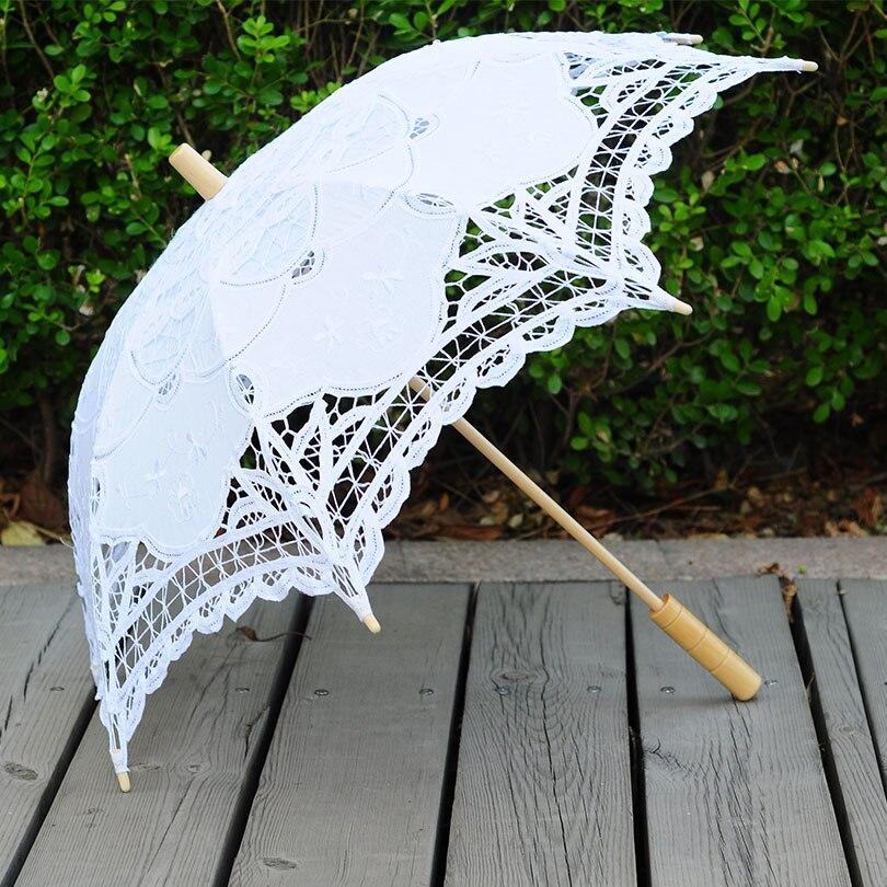 QUNYINGXIU 2017 kézműves kézműves esernyő csipke virág napernyő esernyő dekoráció fotózás props esküvői születésnapi party esernyő