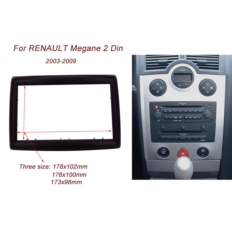High quality 2DIN Car Radio Fascia for RENAULT Megane II 2003-2009 stereo facia frame panel dash mount kit adapter Bezel frame new car radio fascia for nissans frontier xterra 2009 2012 facia frame panel dash mount kit adapter for suzuki equator 2009 2012