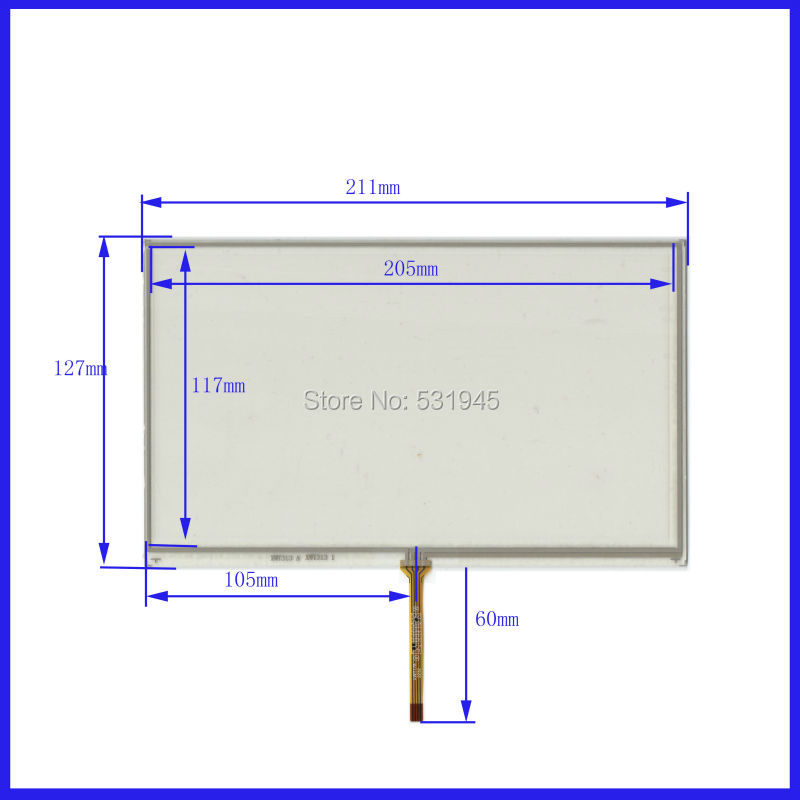 NEW Touch Screen 211mm*127mm 9inch glass XWT313 211*127 for GPS TABLE commercial use for AT090TN10