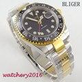 Мужские наручные часы Bliger  механические  с черным циферблатом  40 мм