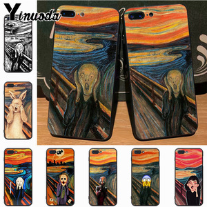 Yinuoda Scream by Munch Ultra Thin Cartoon Pattern soft tpu Phone Case for iPhone 7plus 6S 7 8Plus XS MAX 5S XR case cover(China)