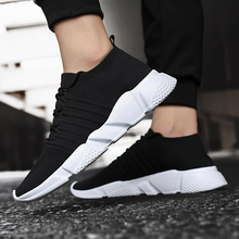 LAISUMK Men Shoes Comfortable Casual Brands Fashion Breathable Spring Autumn Lightweight Sneakers Big size 39-47