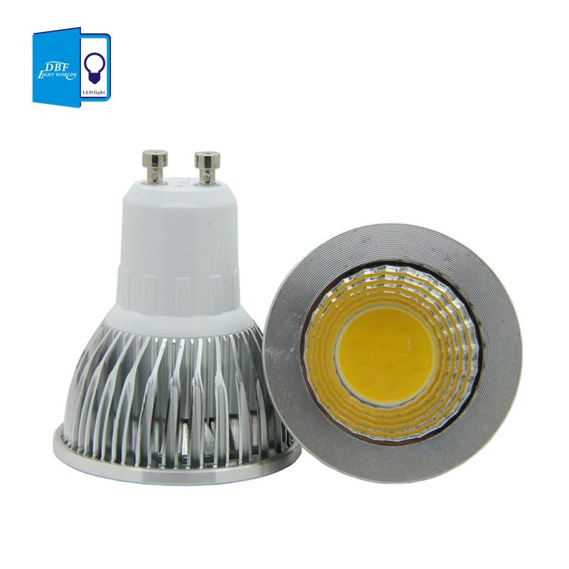 [DBF] Wholesale Super Bright GU10 Led COB Spotlight light lamp 3W 5W 7W AC 85-265V GU10 LED Bulb Lights Warm White /White
