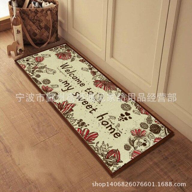 AuBergewohnlich Fußmatten Küche Anti  Rutsch Teppich Dekorative Jute Bad Set Teppiche Für  Wohnzimmer Pvc