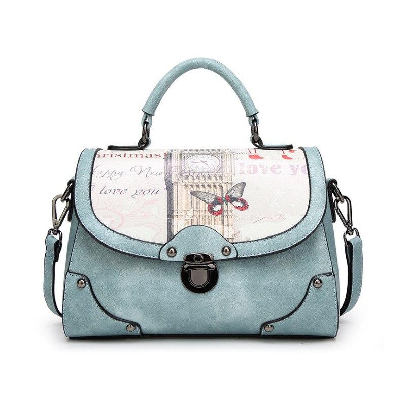 Ygdb Brand Women Shoulder 2019 Casual PU Lether Printing Messenger Bag Fashion Ladies Handbag Large Tote Bags Female BM-0624