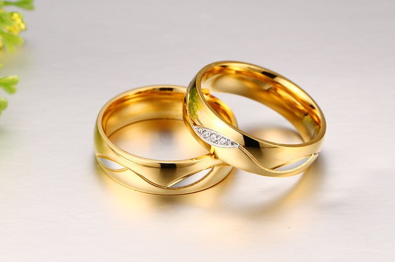 High Quality Rings For Women Men Two Colors Wedding Ring Gold Colour Stainless Steel Female Jewelry In From Accessories